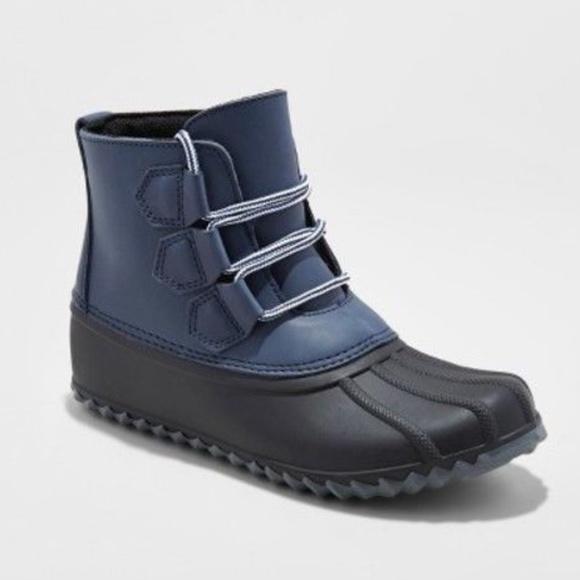 93c833c68a Merona Shoes | Jodi Duck Boots Navy Blue Black Thermolite Se004 ...